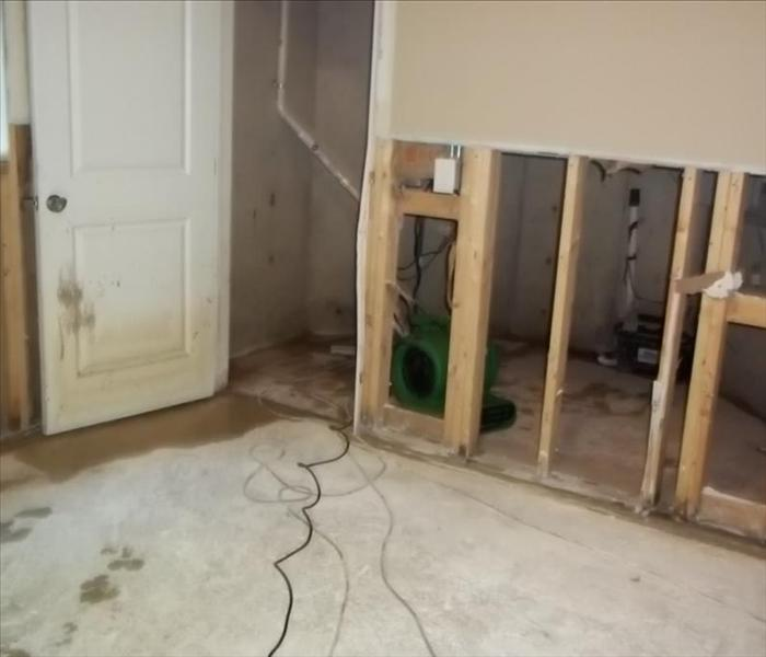 Flooded Basement in Glenview, IL Before