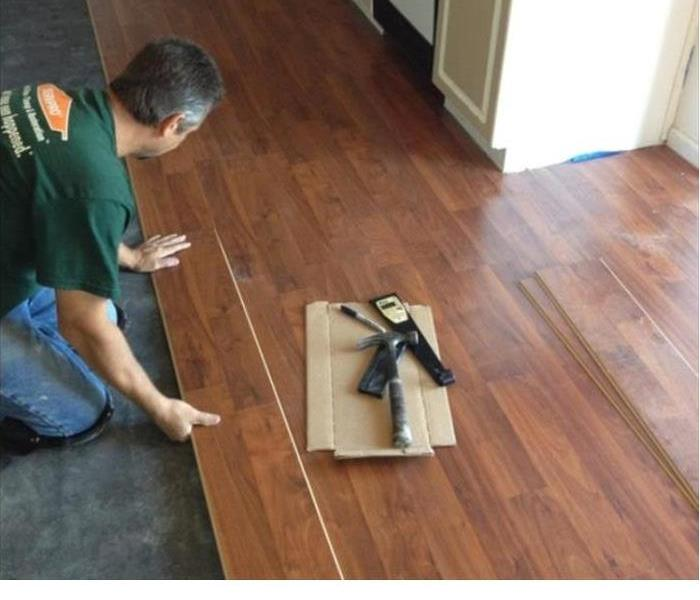 Laying a new floor after a flood