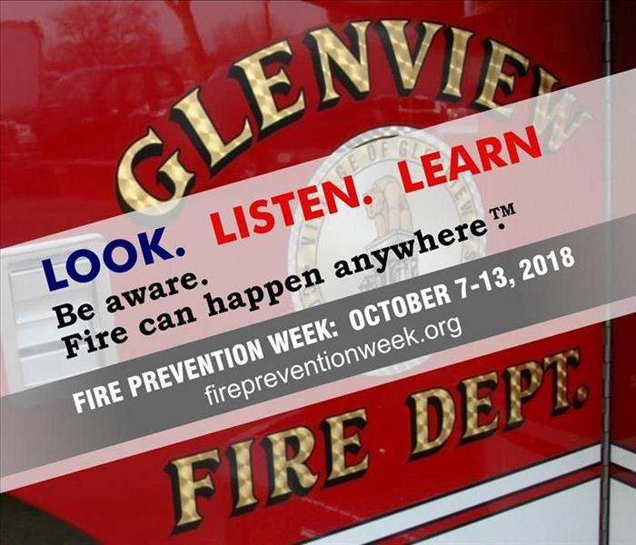 Community Fire Prevention Week.  We Honor Glenview Fire Department.