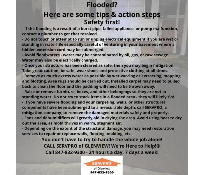 Flood safety tips and action steps
