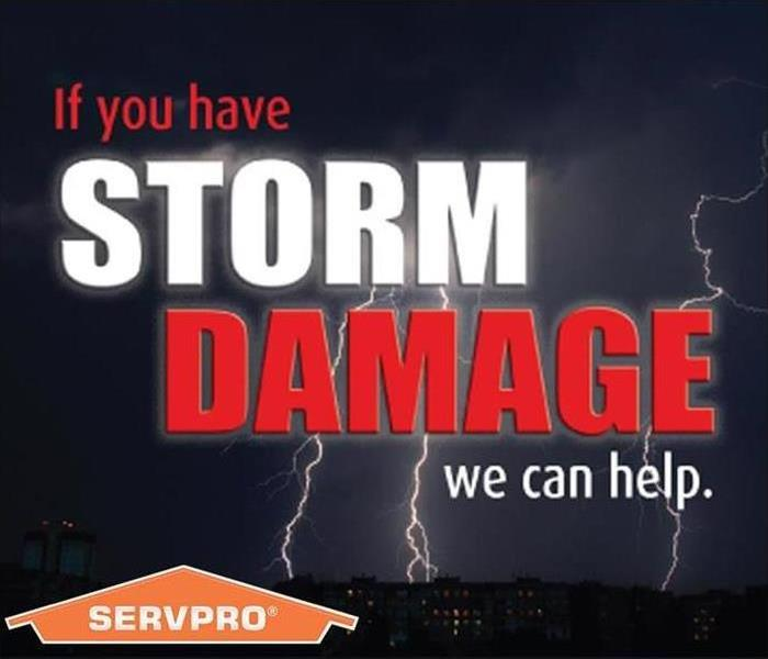 "Image shows SERVPRO logo with text: ""If you have STORM DAMAGE, we can help."""