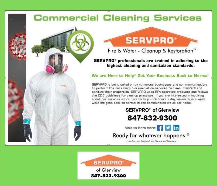 Flyer describing SERVPRO's Commercial Cleaning Services
